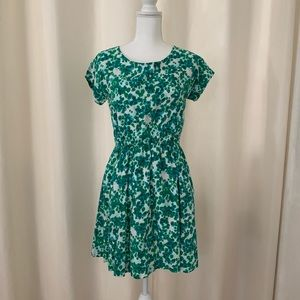 Gap Green And White Dress